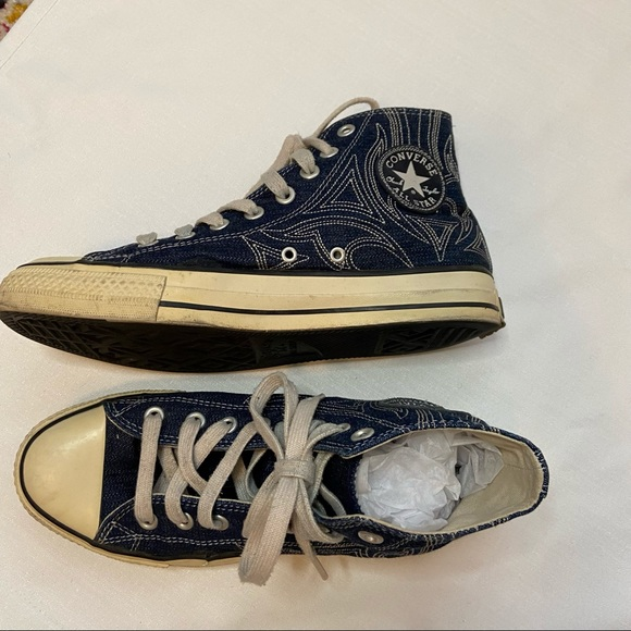 Converse All Star Denim Quilted High Top Sneakers